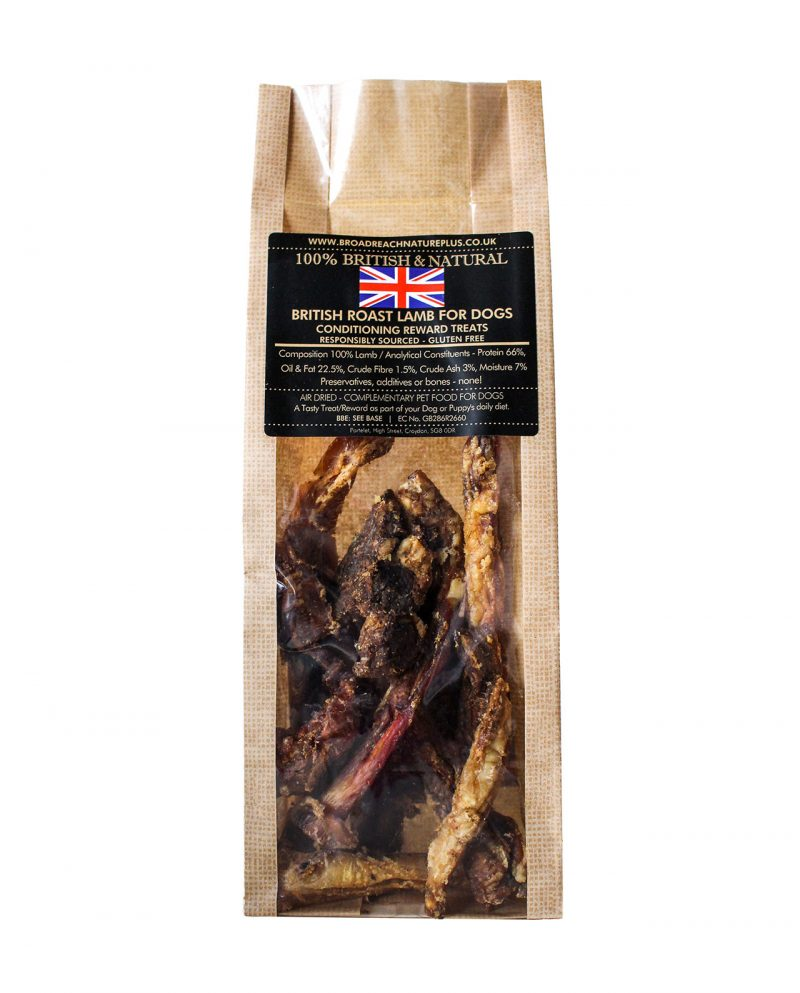 British Roast Lamb Strips For Dogs