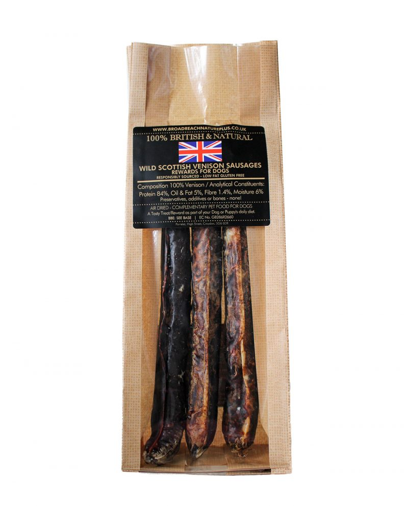 Scottish Venison sausages for dogs