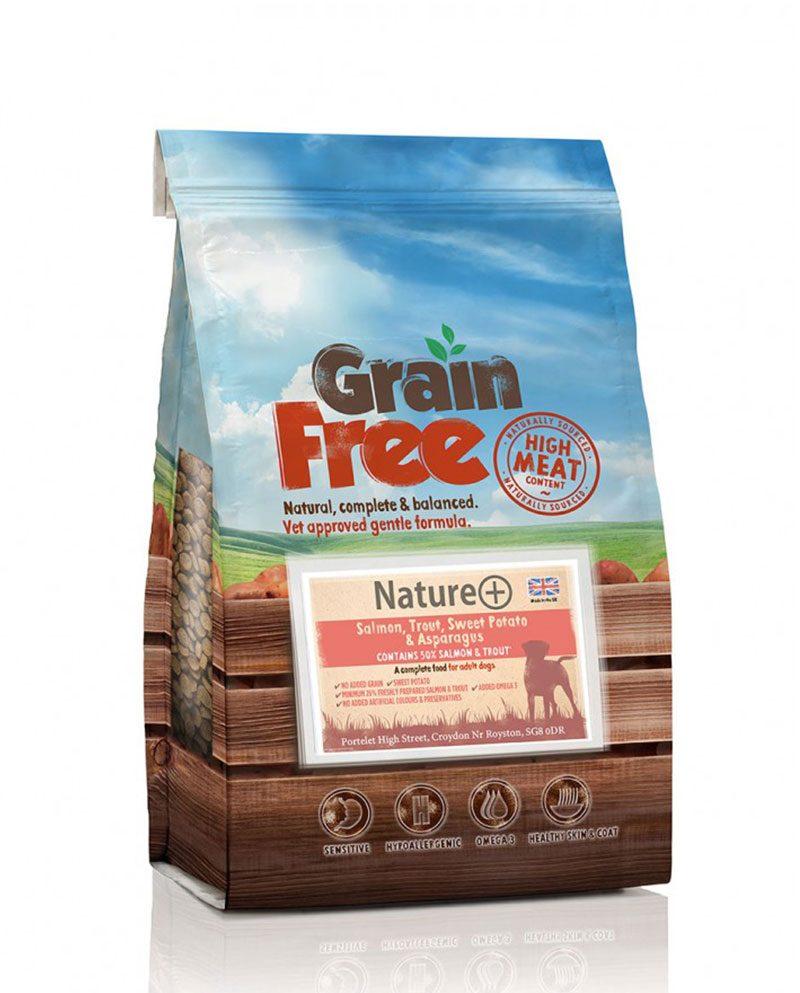 Grain Free- Dog-Food-Trout-And-Salmon-Sweet-Potato