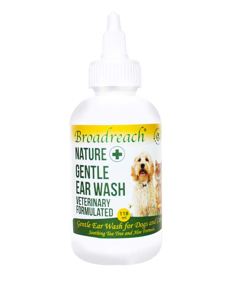 Gentle daily ear wash for dogs and cats