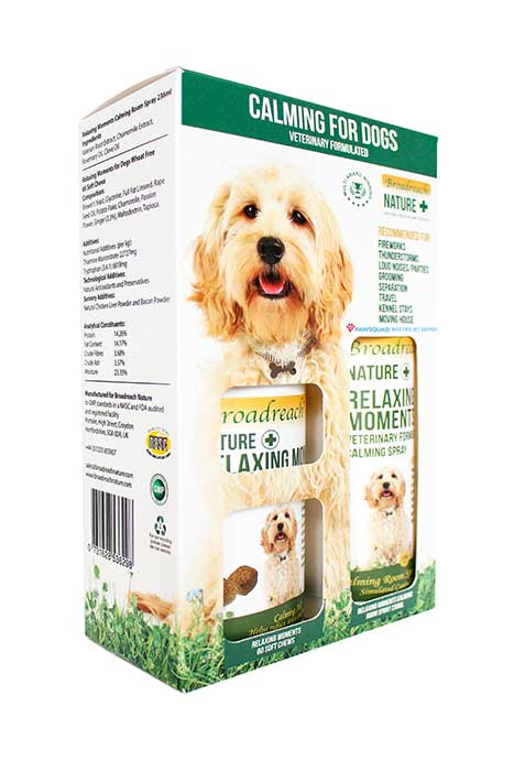 Duo pack of calming products for dogs